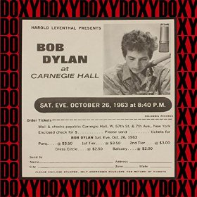 Bob Dylan At Carnegie Hall October 26 1963