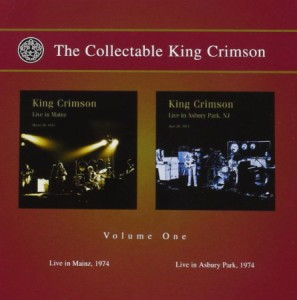 King Crimson The Collectable King Crimson Vol 1 Live in Mainz & Live in Asbury Park
