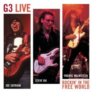 Joe Satriani Steve Vai and Yngwie Malmsteen G3 Rockin' in the Free World